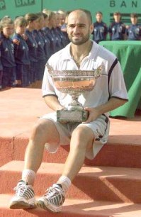 Andre Agassi - French Open Champion