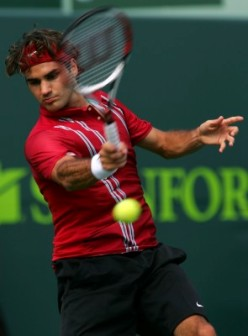 Roger Federer playing in the zone