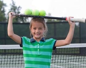 Happy tennis child