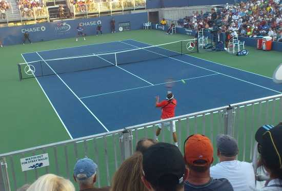 David Nalbandian on Court 17 at the 2011 US Open
