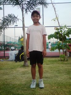 Poonky - a junior tennis player