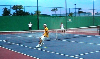 tennis training session