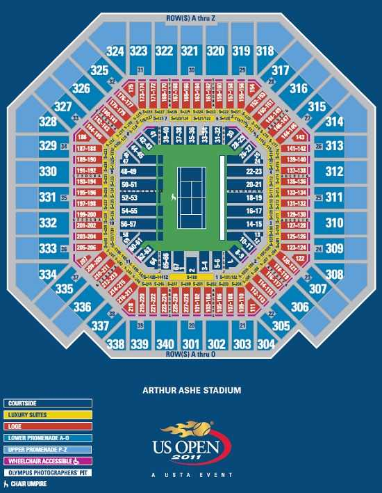 US Open Arthur Ashe Seating Chart